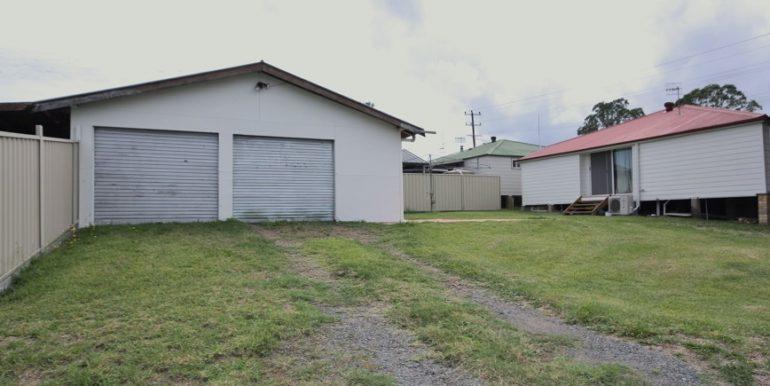 Garage and Rear yard