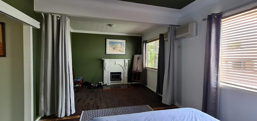 Main bedroom fire place